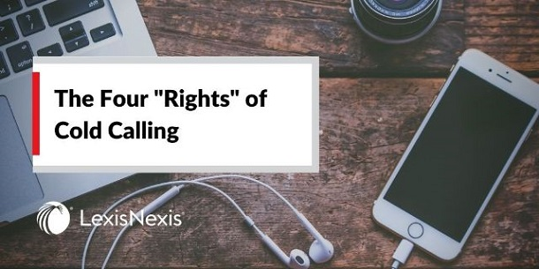 "Laptop and mobile phone with headphones sit on a desk – perfect for cold calling. ""The Four Rights of Cold Calling"""